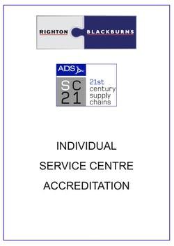 Cover image for Righton Blackburns SC21 Member Certificate