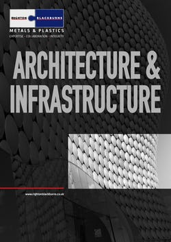 Cover image for Architecture and Infrastructure Brochure