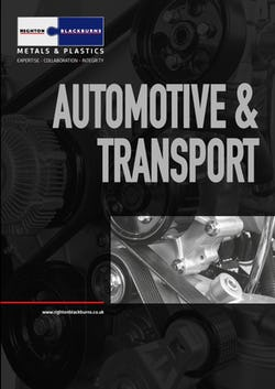 Cover image for Automative and Transport Brochure