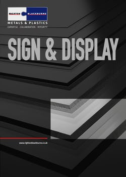 Cover image for Sign and Display Brochure